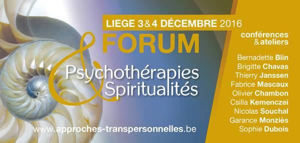 Forum Psychothérapies & spiritualité