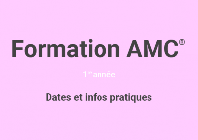 Formation de base en art-thérapie AMC© 1re ANNÉE (CYCLE 2019)